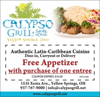 Free Appetizer With Purchase Of One Entree